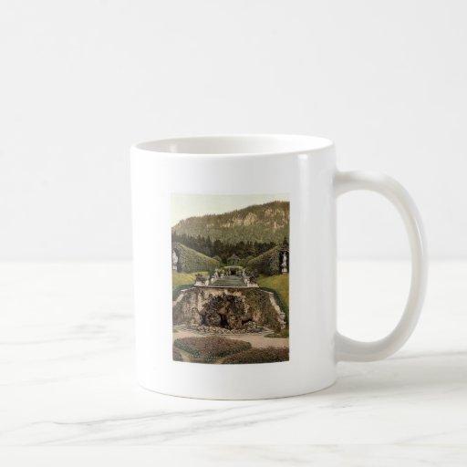 Neptune Fountain, Linderhof Castle, Upper Bavaria, Classic White Coffee Mug