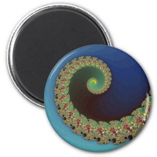Neptune - Fractal Art 2 Inch Round Magnet