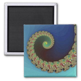 Neptune - Fractal Art 2 Inch Square Magnet