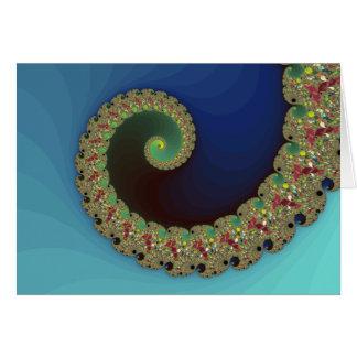 Neptune - Fractal Art Card