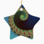 Neptune - Fractal Art Ceramic Ornament