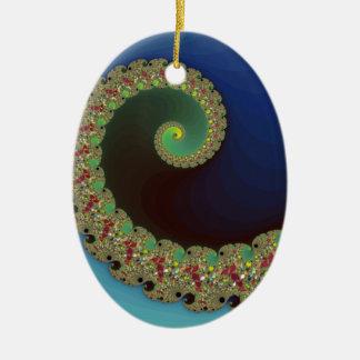 Neptune - Fractal Art Ceramic Ornament