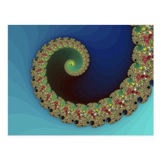 Neptune - Fractal Art Postcard