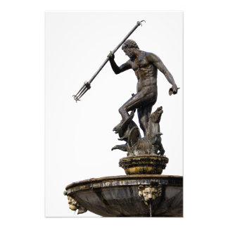 Neptune God of the Sea Statue Photo Art
