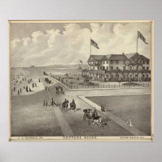 Neptune House, Ocean Beach, NJ Poster