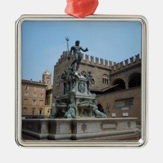 Neptune in Bologna Metal Ornament