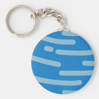 Neptune Basic Round Button Keychain