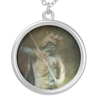 Neptune Round Pendant Necklace