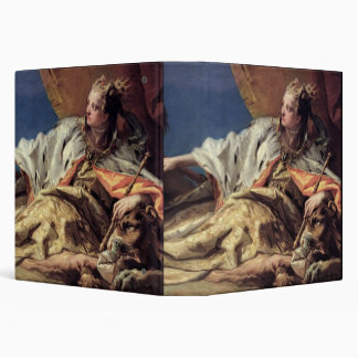 Neptune offering gifts to Venice ceiling fresco 3 Ring Binder