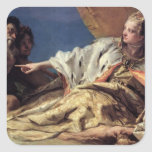 Neptune offering gifts to Venice (ceiling fresco) Square Sticker