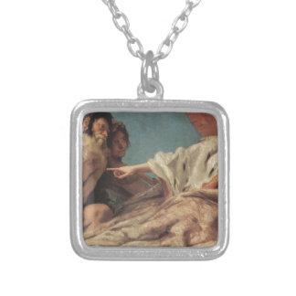 Neptune Offering Gifts to Venice Giovanni Battista Square Pendant Necklace