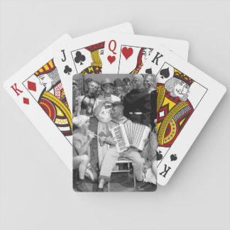 Neptune party on USS ENTERPRISE_War Image Deck Of Cards
