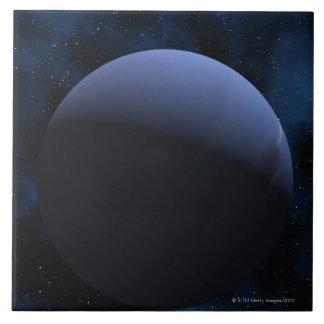 Neptune planet ceramic tile