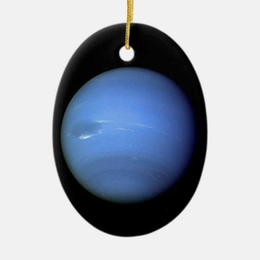 Neptune Planet in our solar system Double-Sided Oval Ceramic Christmas Ornament