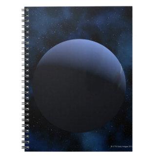 Neptune planet spiral notebook