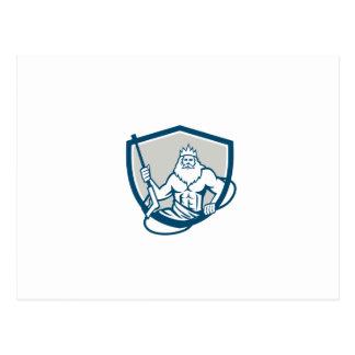 Neptune Power Washer Shield Retro Postcard