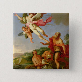 Neptune Pursuing Coronis, 1665-70 (oil on canvas) Button