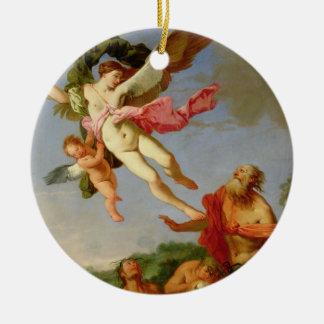 Neptune Pursuing Coronis, 1665-70 (oil on canvas) Ceramic Ornament