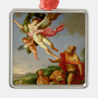 Neptune Pursuing Coronis, 1665-70 (oil on canvas) Christmas Ornaments