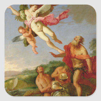 Neptune Pursuing Coronis, 1665-70 (oil on canvas) Stickers