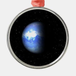 Neptune Round Metal Christmas Ornament