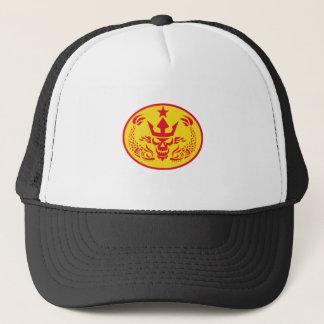 Neptune Skull Fish Star Oval Retro Trucker Hat