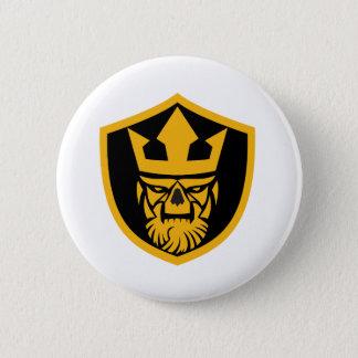 Neptune Skull Front Shield Pinback Button