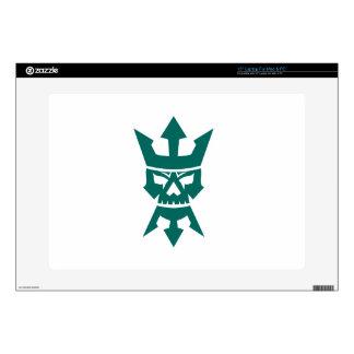 Neptune Skull Trident Beard and Crown Icon Laptop Skin