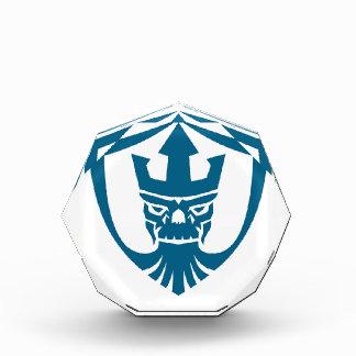 Neptune Skull Trident Crown Crest Icon Acrylic Award