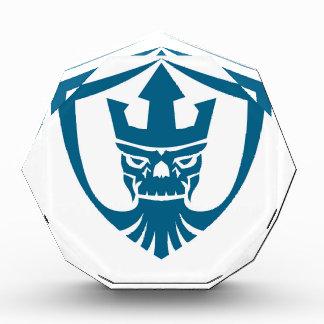Neptune Skull Trident Crown Crest Icon Award
