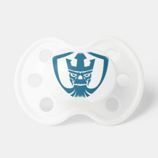Neptune Skull Trident Crown Crest Icon Pacifier