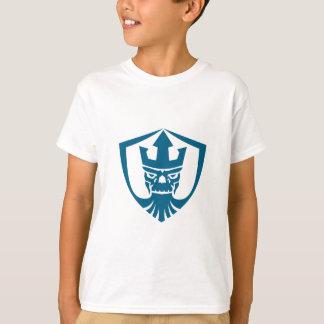 Neptune Skull Trident Crown Crest Icon T-Shirt