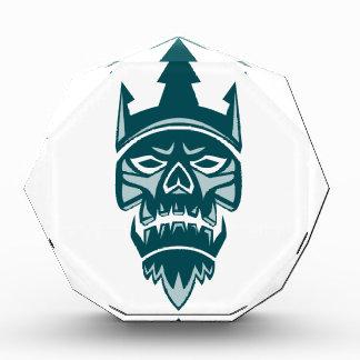 Neptune Skull Trident Crown Retro Acrylic Award