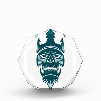 Neptune Skull Trident Crown Retro Award