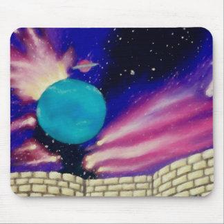 Neptune Space Universe Sky Stars Fantasy Castle Mousepads