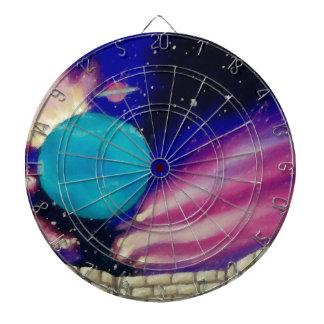 Neptune Space Universe Sky Stars Scifi Dartboard