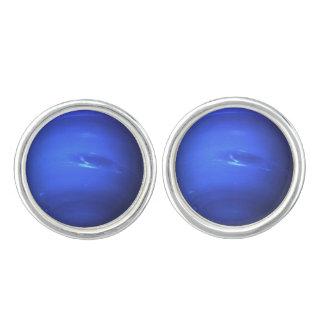 Neptune Surface Photo Blue Cufflinks