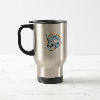 Neptune Water Blaster Circle Retro Travel Mug