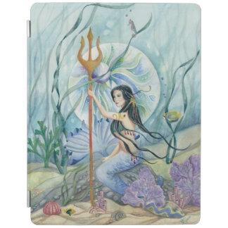 Neptunes Daughter Mermaid Pearl Orb Art iPad Cover