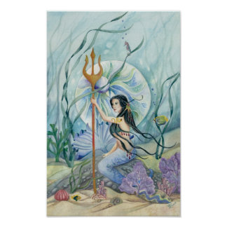 Neptune's Daughter Reigns Mermaid Fantasy Print