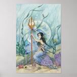 Neptune's Daughter Reigns Mermaid Fantasy Print