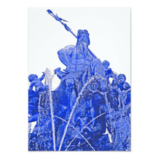 Neptunes Fountain, Alexanderplatz, Berlin, Blue(1) Card
