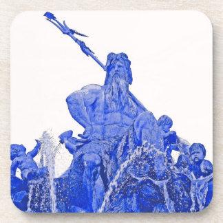 Neptunes Fountain, Alexanderplatz, Berlin, Blue(1) Drink Coaster