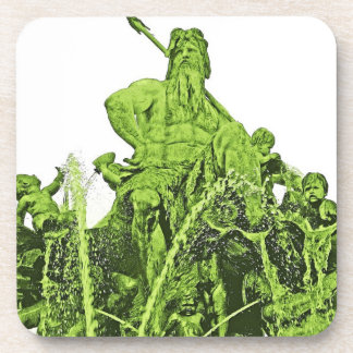 Neptunes Fountain, Alexanderplatz, Berlin,Green(1) Drink Coaster