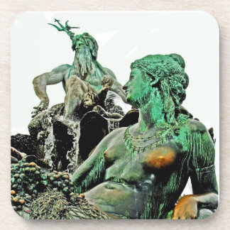 Neptunes Fountain, Alexanderplatz, Berlin (n3) Beverage Coaster