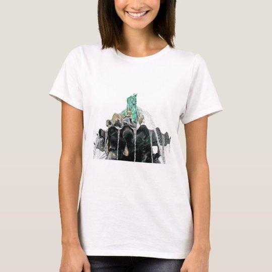 Neptunes Fountain, Alexanderplatz,in Oils(1) T-Shirt