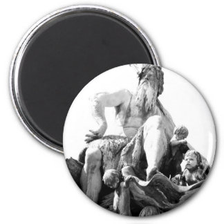 Neptune's fountain in Berlin, Germany 2 Inch Round Magnet