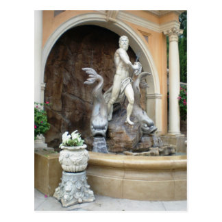 Neptune's fountain postcard