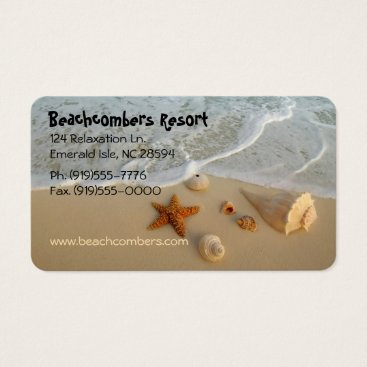 Beach Themed Neptune's Gifts Business Card