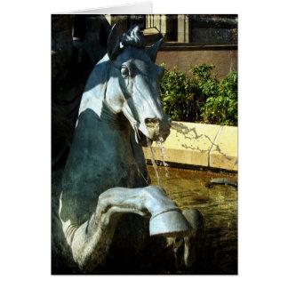 Neptune's Horse, Plaza Fountain Detail 2, Birthday Card